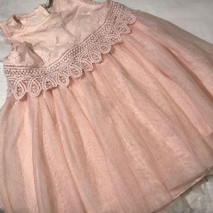 Peach Layered Dress 18-24 Months